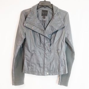 Rd style faux leather jacket gray SP